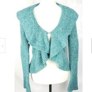 Moda International Shrug Cardigan Sweater S Teal